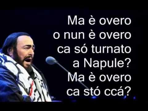 Luciano Pavarotti - 'O Paese d' 'o Sole - D'Annibale - 1925 - By: Bovio