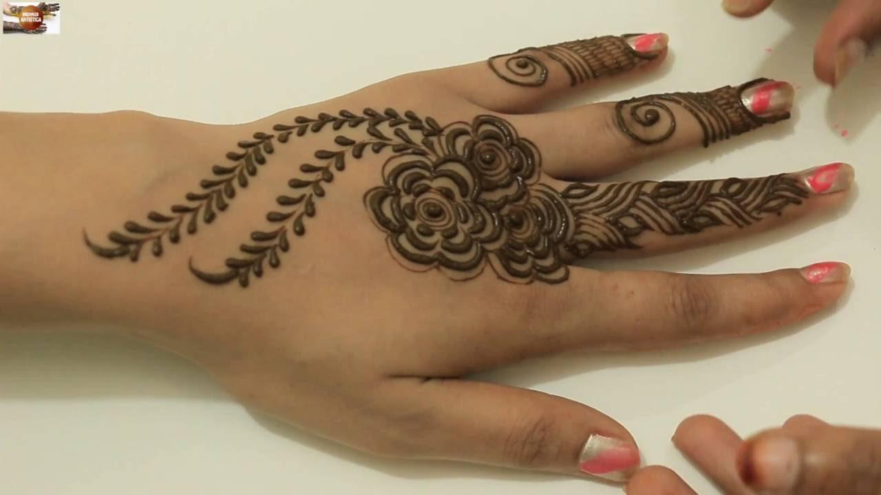 bel mehndi designs for hands