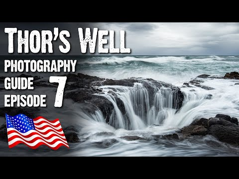 Landscape Photography USA - Thor's Well, seascape