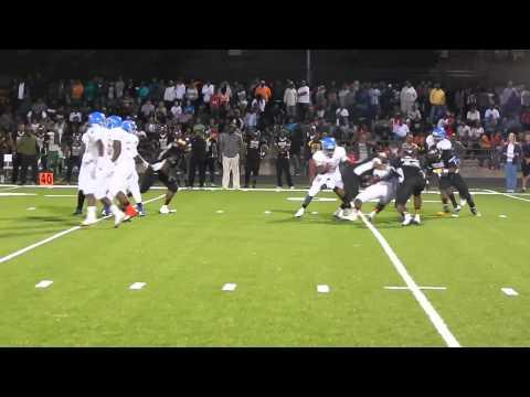 Hanna quarterback sack Patterson/Dunbar football 9/27/13
