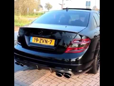 Mercedes C63 Amg Exhaust Sound Uitlaat Youtube