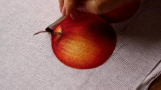 Pintura em tecido – Maçã parte 2