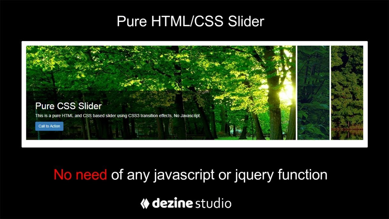 Pure CSS Slider without Javascript | CSS Tutorials