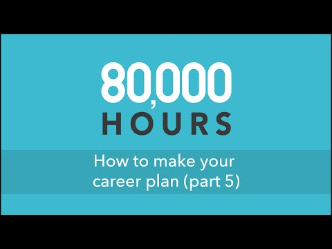 How to make your career plan (part 5) @ Cambridge University