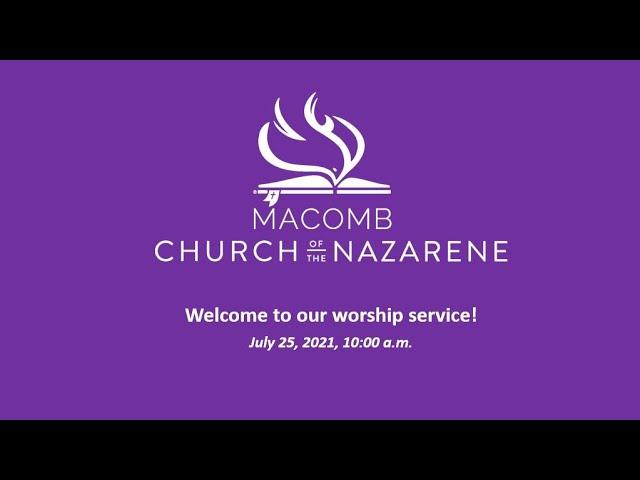 Sunday Morning Worship - July 25, 2021