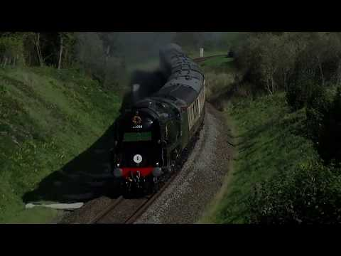 The Atlantic Coast Express with 35028 Clanline