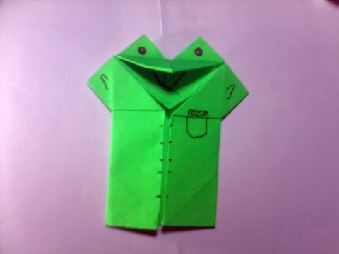 How To Make Origami Frog Puppet - Speak Frog - Easy Origami
