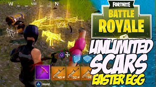 Fortnite Battle Royale How to Get the LEGENDARY SCAR Every Time! Easter egg (5 LEGENDARY SCARS?)