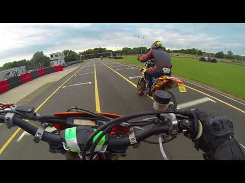 Supermoto On The Track|Small Improvement And Close Calls|Whilton Mill