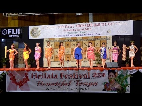 Miss Heilala Pageant // Sarong Swimwear // Beautiful Tonga Heilala Festival