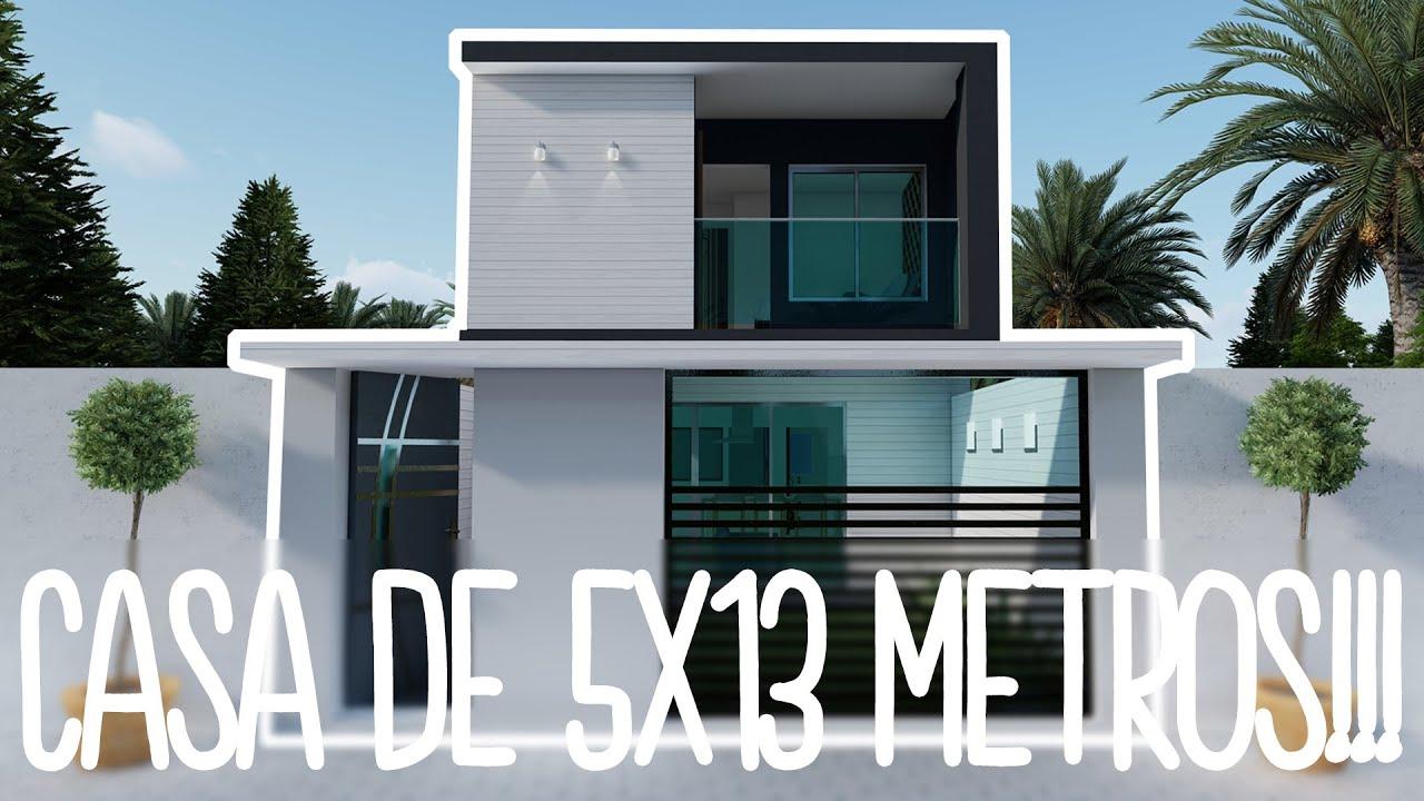 Download CASA en TERRENO de 5x13 Metros + DESCARGA GRATIS PDF!