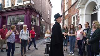 Ghost Tour on Shambles in York, England