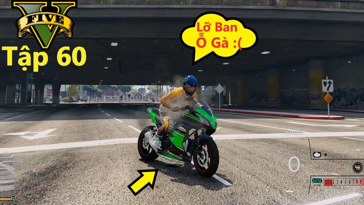 GTA 5 Siêu Xe #60 Ninja 300 Test Xe Trong Thành phố Ban Ỗ Gà Té SML Và Cái Kết Hạ Máy Xe :((