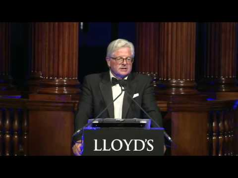 John Nelson and Sadiq Khan speaking at Lloyd's City Dinner