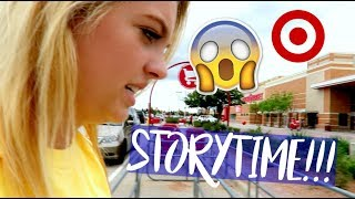 we were being followed at target... storytime