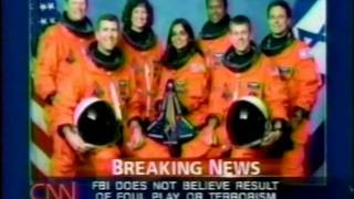 CNN  Coverage of STS-107 Part 20  (The Columbia Disaster)