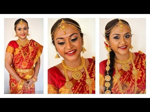 South Indian Tamil Bridal Makeup Look in Tamil with Eng Subtitles   CheezzMakeup