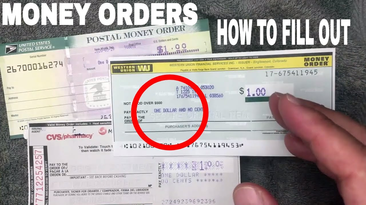 ✅ How To Fill Out A Money Order 🔴