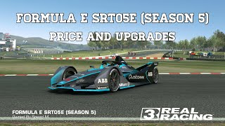 Real Racing 3 Formula E SRT05E (Season 5) Price And Upgrades RR3