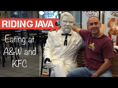 Eating at A&W and KFC in America