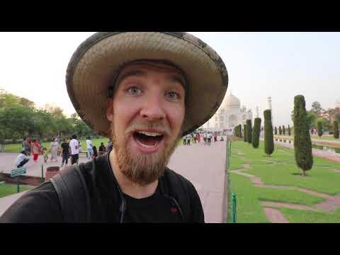 AMERICAN VISITS the TAJ MAHAL in INDIA!!