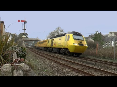 Network Rail's 'Flying Banana' at Ferryside West Wales 18/01/2017