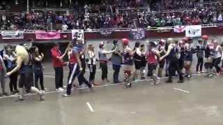 2014 World Cup Final USA vs England Blood & Thunder Roller Derby World Cup Dallas