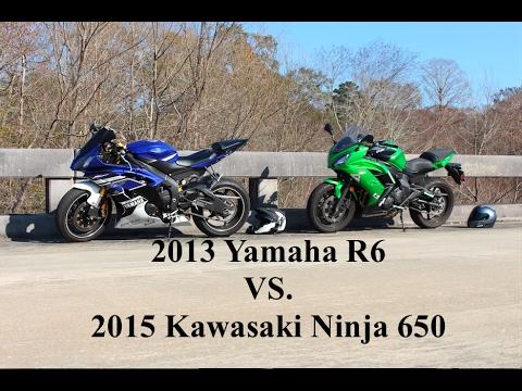 Yamaha R6 vs. Kawasaki Ninja 650 | Drag Race - YouTube