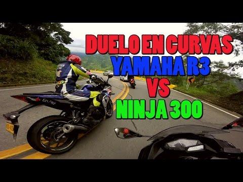 YAMAHA R3 VS NINJA 300 | SOLO CURVAS DUELO | JULIAN CALDERON - ANDRES MASB