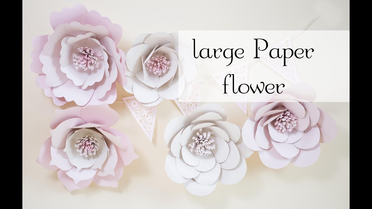 Tutorial easy beautiful large paper flower youtube tutorial easy beautiful large paper flower mightylinksfo