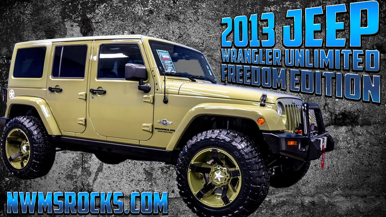 2013 jeep wrangler unlimited freedom edition northwest. Black Bedroom Furniture Sets. Home Design Ideas