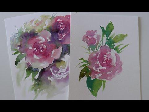 Acquerello Lezione N 33 Come Dipingere Una Rosa Con La Tecnica Del Bagnato Su Asciutto