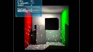 Instant radiosity using virtual point lights and reflective shadow maps