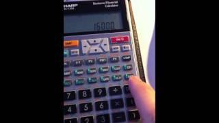 Calculating irr using Sharp el-735