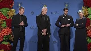 Frances McDormand & Martin McDonagh: Golden Globe Awards Backstage Interview (2018)