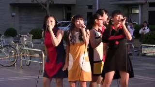 6月17日、名鉄豊田市駅東側、GAZAビル前広場での豊田市のご当地アイドル...