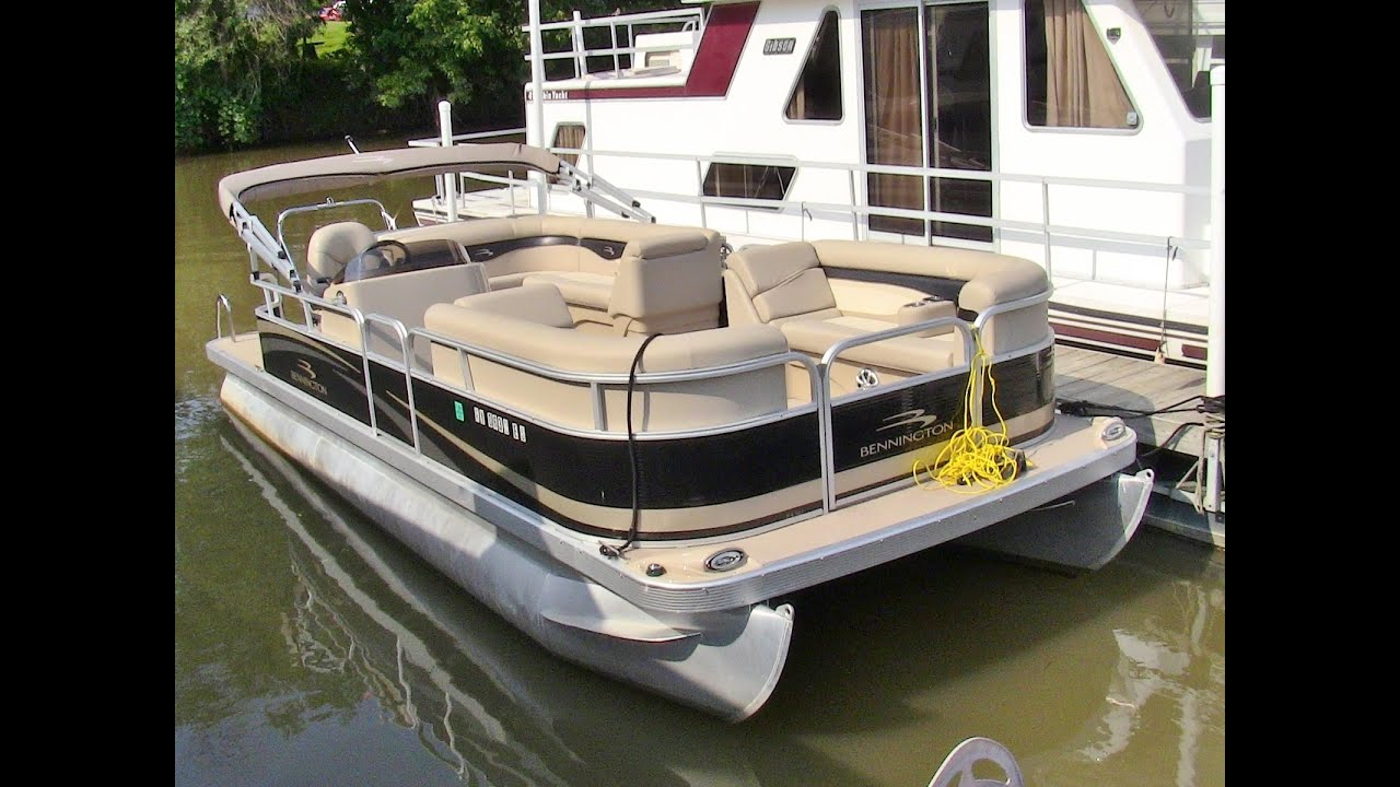 2011 bennington 24 sli luxury pontoon boat walk around for Pontoon boat without motor for sale