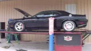 2008 Dodge Challenger Hennessey SRT600 Chassis Dyno Test Corsa Exhaust Upgrades Modifications