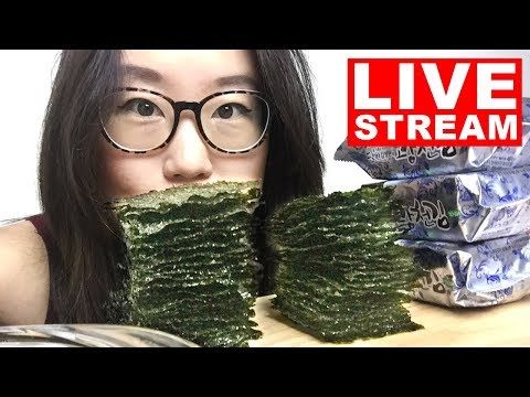 Eating 100 Sheets of Seaweed - LIVE MUKBANG Q&A