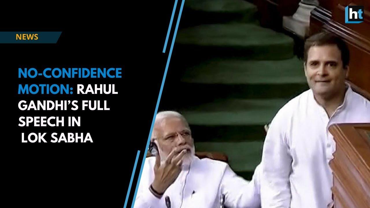 Download No-confidence motion: Rahul Gandhi's full speech during the debate in Lok Sabha