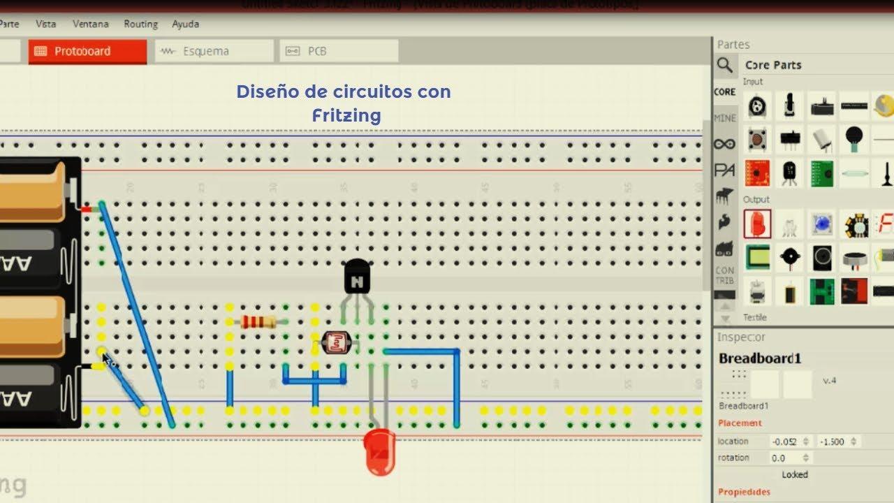 Circuito Ldr : Circuito básico con ldr utilizando fritzing youtube