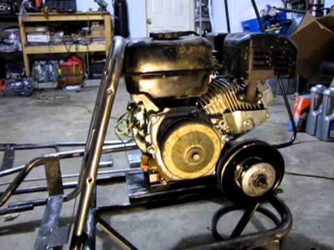 Go Kart After Paint Removal, Motor Mounting Clearance