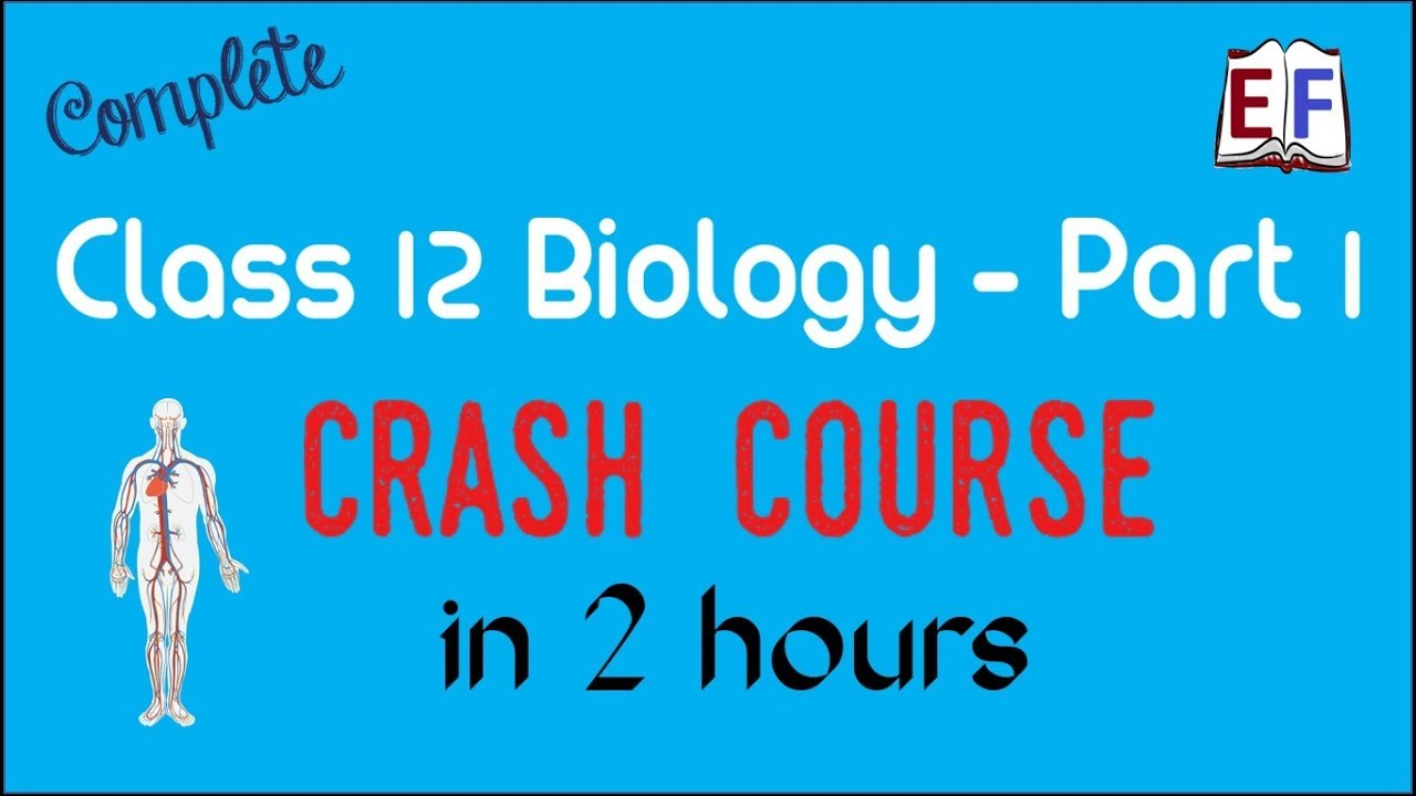 Crash Course Class 12 Bio Biology (Part 1 ) Revision in 2 hrs