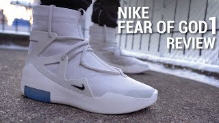 Nike Air Fear of God 1 Light Bone Review & On Feet