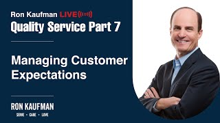 Ron Kaufman - Quality Service LIVE Part 7
