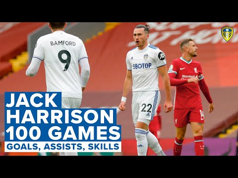 Goals, assists, skills! 100 Leeds United games for Jack Harrison