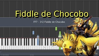 FF7 - 312 Fiddle de Chocobo (Piano)[Synthesia] [HD]