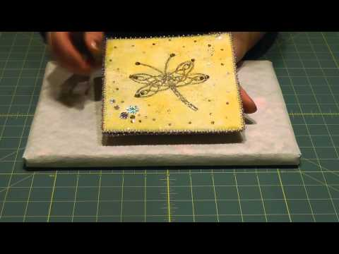 Textile Art Howto: Foils and Powdered Glue