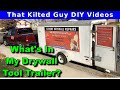 How I set up my drywall work trailer