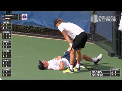 #3 UNLV Tops #2 Fresno State 4-3 in MW Men's Tennis Semifinal 1